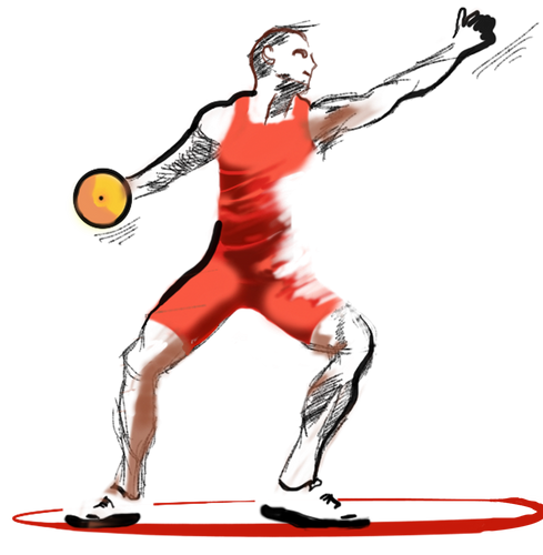 Iron On Discus Thrower Decal