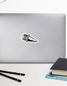 Laptop Sticker - Spikes