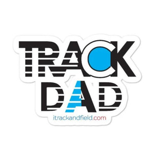 Waterproof Track Dad Stickers
