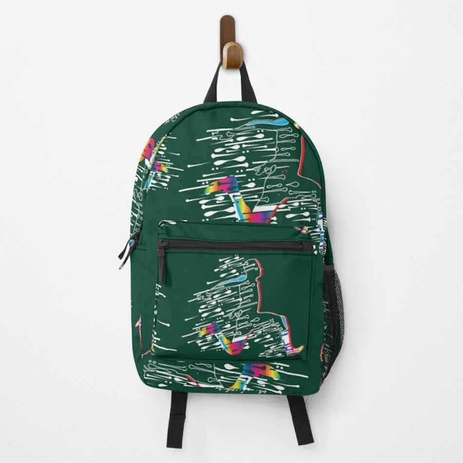 Green Athletic backpack for Men's Triple Jump