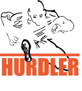 Hurdler Sticker - Male Hurdler Sticker