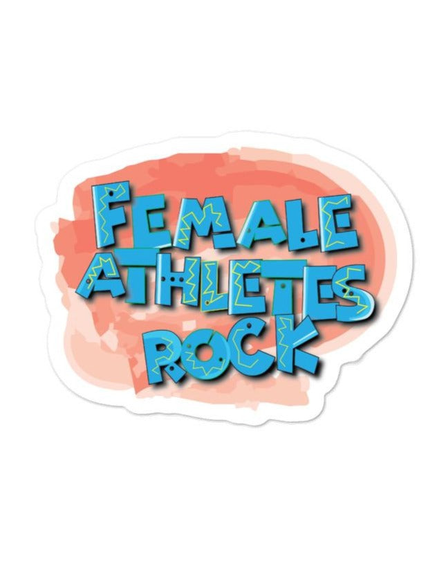 Female athletes rock Sticker