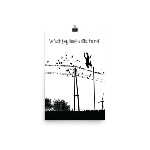 Polevaulting Poster - Black and white Female Pole vaulter