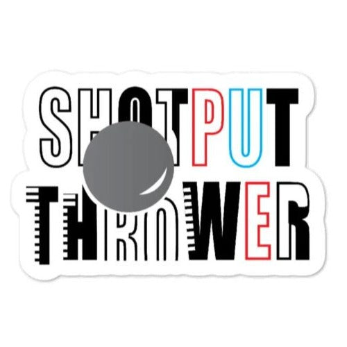 Shot put Thrower Sticker