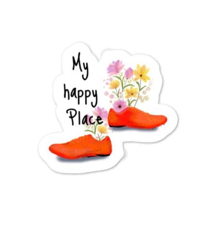 My happy place - Track Spikes Sticker