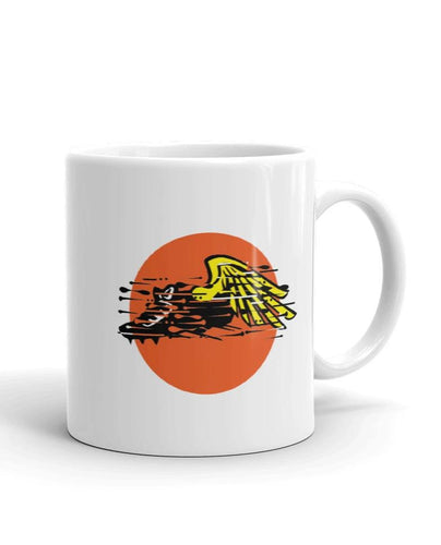 Track spikes  with wings mug