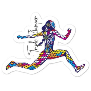 Triple Jump Sticker - Women's Sticker
