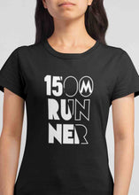 Load image into Gallery viewer, Black womens 1500m Tshirt