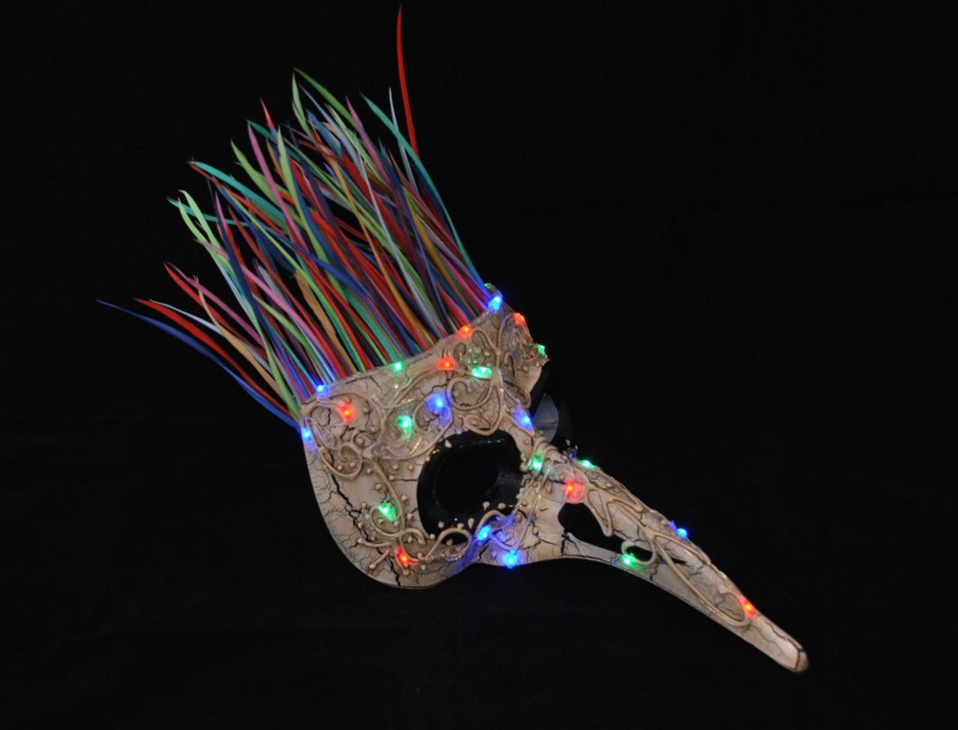 Light-Up Plague Doctor Carnival Mask.