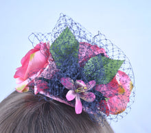 Crazy Cat Lady Floral Fascinator.