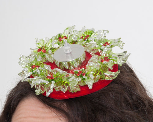 Light-up Holly Christmas Fascinator