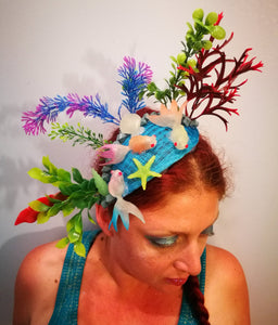 UV Mermaid Fascinator.