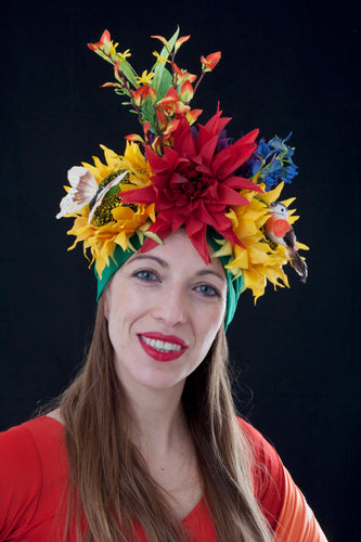 Sunflower Mardi Gras Turban.