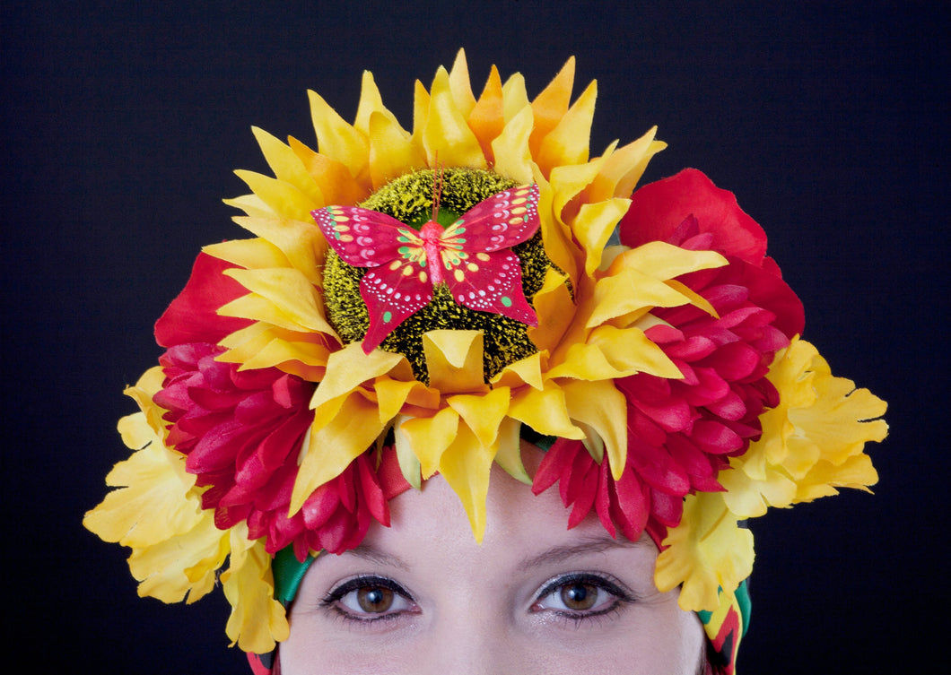 Tropical Flower Reggae Headdress.