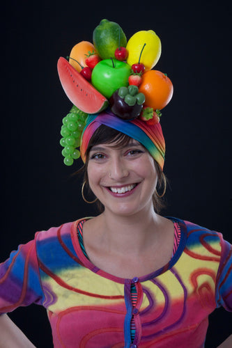 Rainbow Fruity Carmen Miranda Turban.
