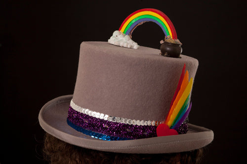 Rainbow Pride Top Hat.