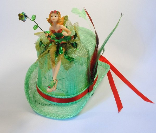 Green Fairy Mini Top Hat.