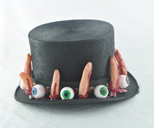 Voodoo Halloween Light-Up Top Hat.