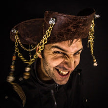 Bespoke Tricorn Pirate Hat with Chains.