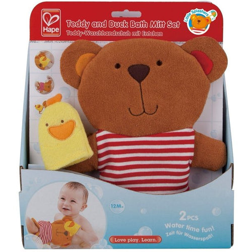 Teddy & Duck Bath Mitt Set