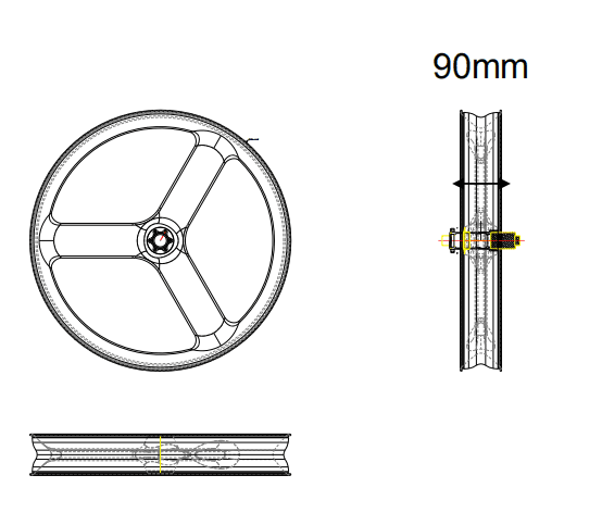 90mm 3S Fat Bike Wheels - Triaero
