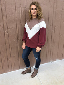 Macy Color-block Top