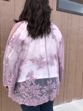 Load image into Gallery viewer, Lavender Lace Kimono