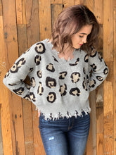 Load image into Gallery viewer, Too Good Leopard Sweater