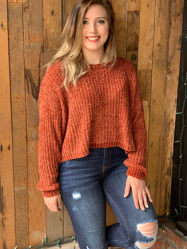 Taylor Rust Knit Top