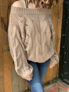 Brielle Cable Knit Sweater