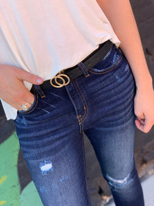 Double Circle Stud Belt