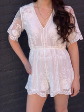 Load image into Gallery viewer, Happily Ever After Lace Romper
