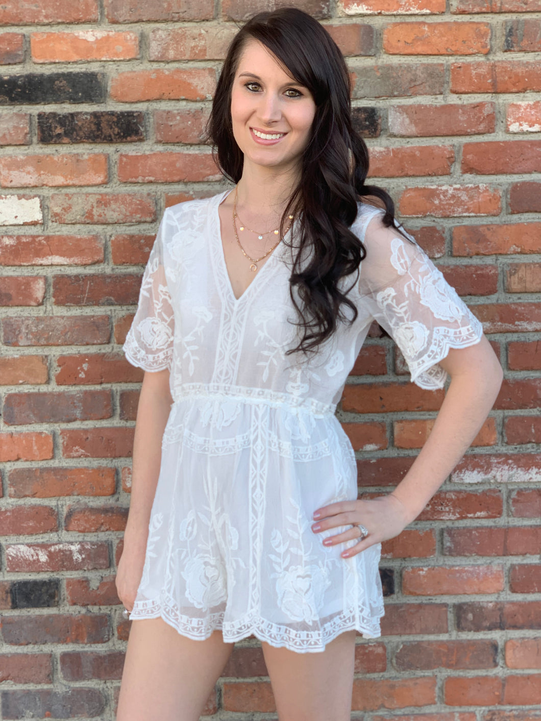 Happily Ever After Lace Romper