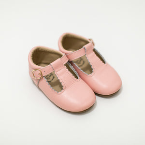 Leather T-bar shoes pink