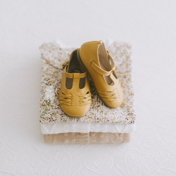 [LIMITED RELEASE] Kitty T-bar shoes - mustard