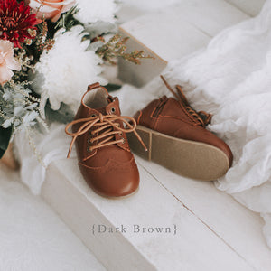 Vintage inspired brown kids boots with zip and laces