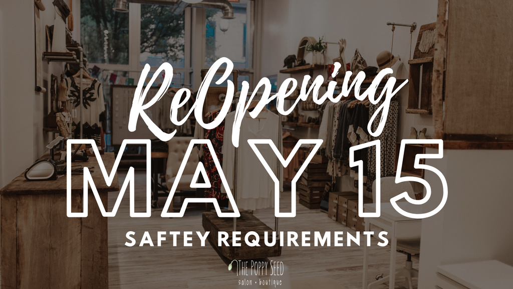 REOPENING MAY 15TH!!