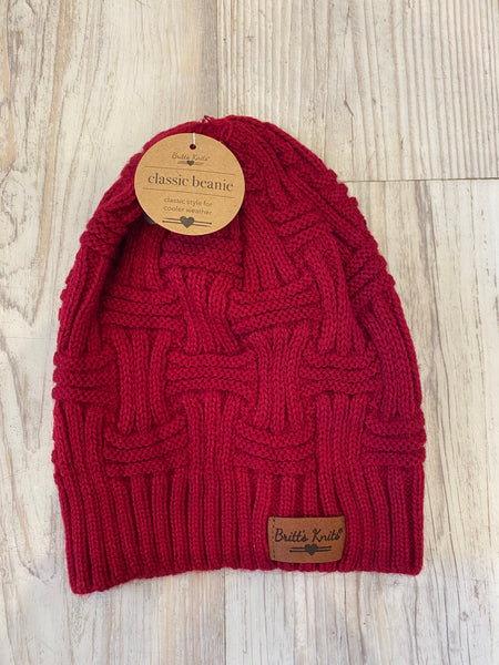 Classic Beanie in Red