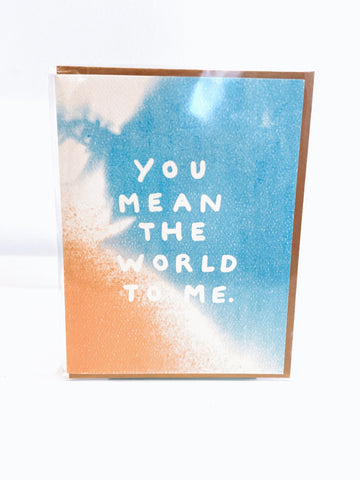 The World To Me Card
