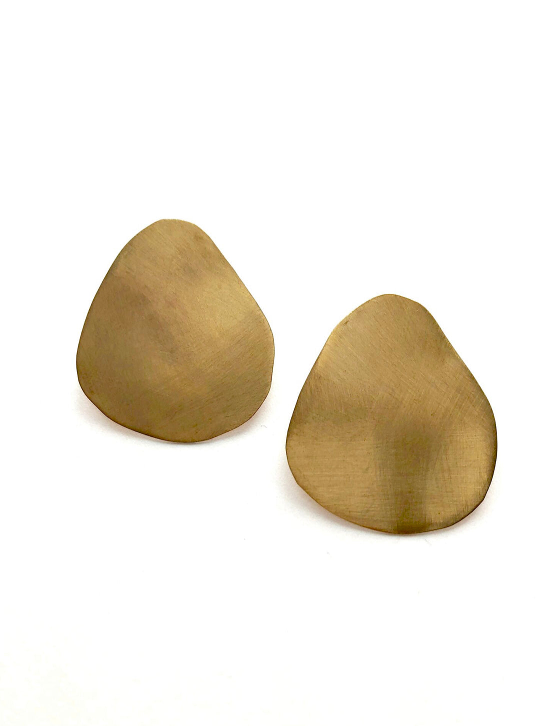 Uneven Large Circle Stud Earrings