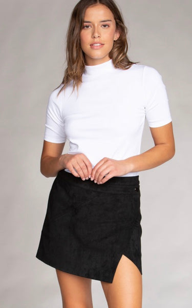 Mini Skirt Wrap in Black