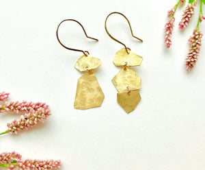 Assymetrical Geometric Shape Earrings