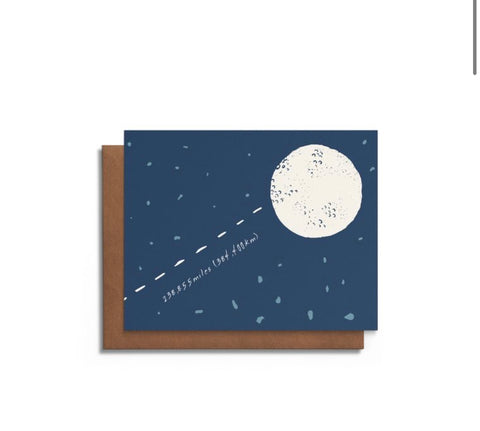 Love You To The Moon and Back A2 Card
