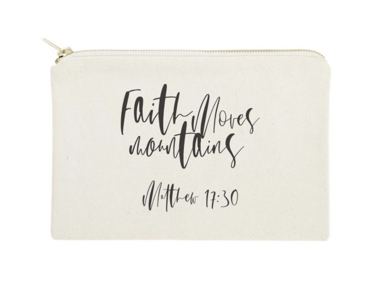 Faith Moves Mountains Cosmetic Bag
