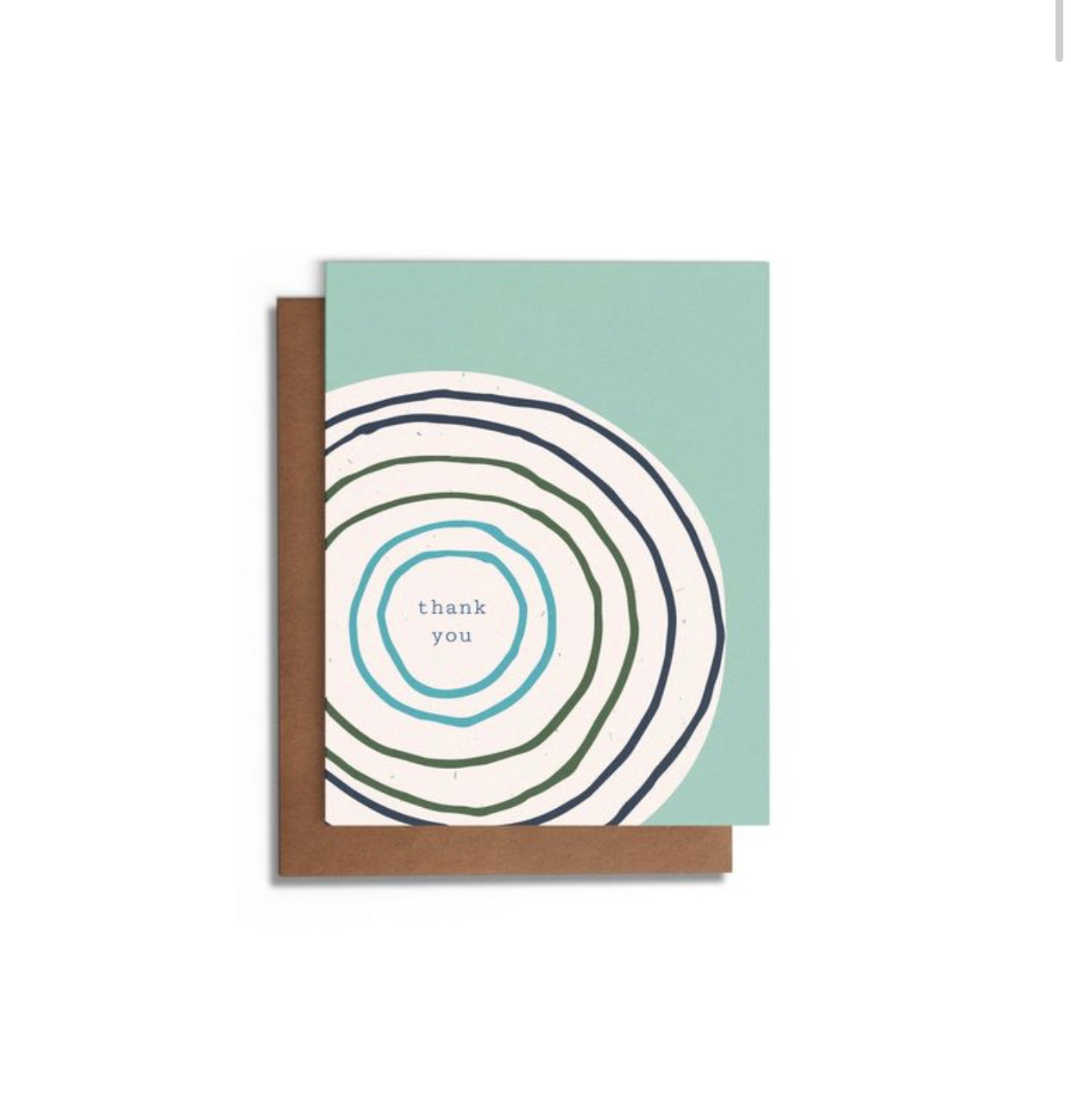 Circles Blank Thank You Card A2