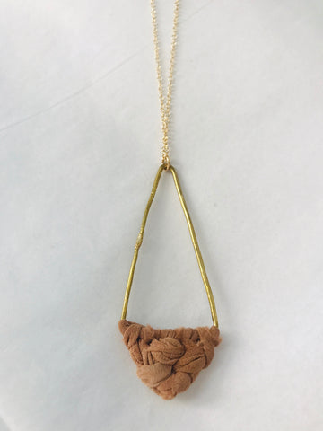 Rust Triangle Silk Necklace