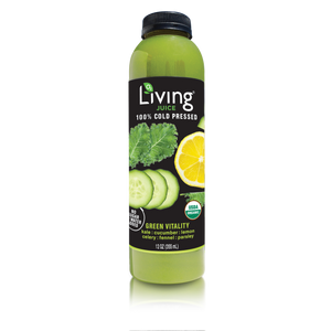 O2 Living Juice Green Vitality, 100% Cold Pressed, 12oz