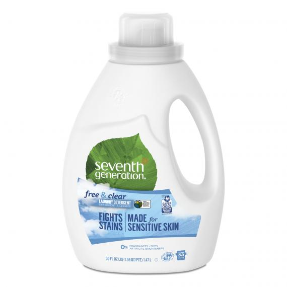 Seventh Generation – Free & Clear Laundry Detergent, Made for Sensitive Skin, Unscented, 33 Loads