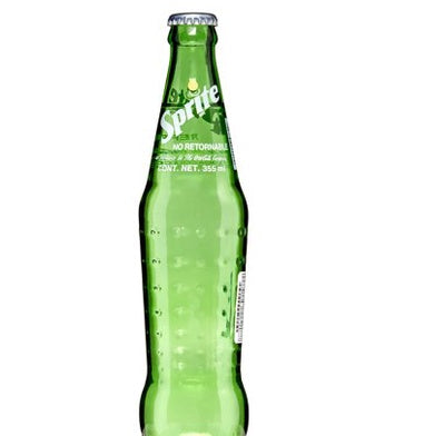 Sprite — Glass Bottle (made w/ cane sugar), 12oz