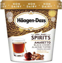 Häagen-Dazs – Amaretto Black Cherry Almond Toffee (Non-Dairy Spirits)